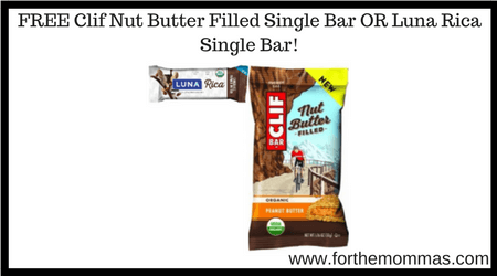 FREE Clif Nut Butter Filled Single Bar OR Luna Rica Single Bar