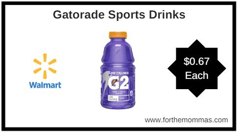 graphic about Gatorade Coupons Printable known as Walmart: Gatorade Sporting activities Consume $0.67 - FTM