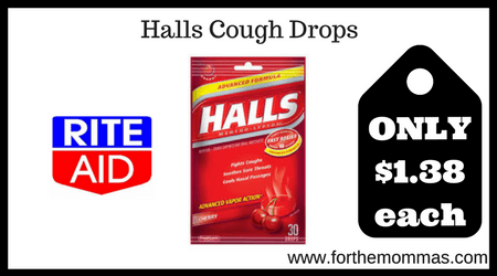 Rite Aid Halls Cough Drops Only 1 38 Each Starting 2 18