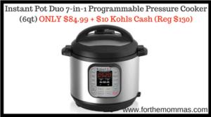 Instant Pot Duo 7-in-1 Programmable Pressure Cooker