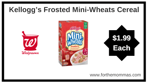Walgreens: Kellogg's Frosted Mini-Wheats Cereal $1.99