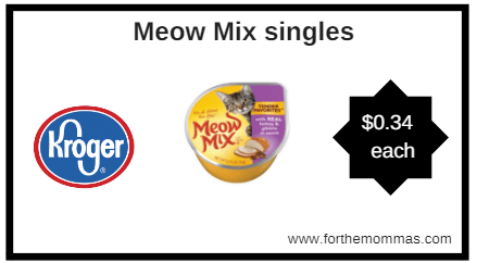 Kroger: Meow Mix singles ONLY $0.34