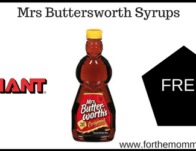 Mrs Buttersworth Syrup