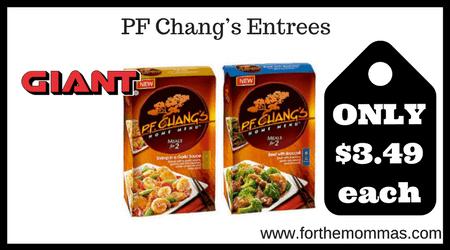 PF Chang's Entrees
