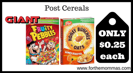 photo relating to Post Cereal Coupons Printable called Large: Short article Cereals Basically $0.25 Every single Starting up 2/9 Gasoline