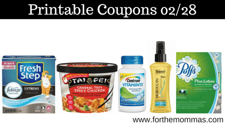 picture relating to Suave Printable Coupons referred to as Most current Printable Discount codes 02/28: Conserve Upon Tai Pei, Centrum