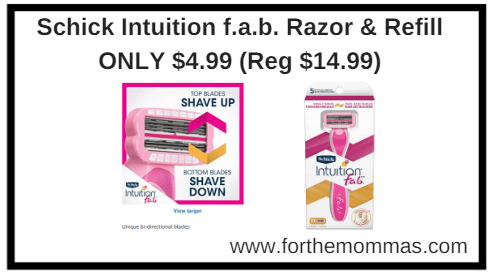 Schick intuition refill coupons 2018