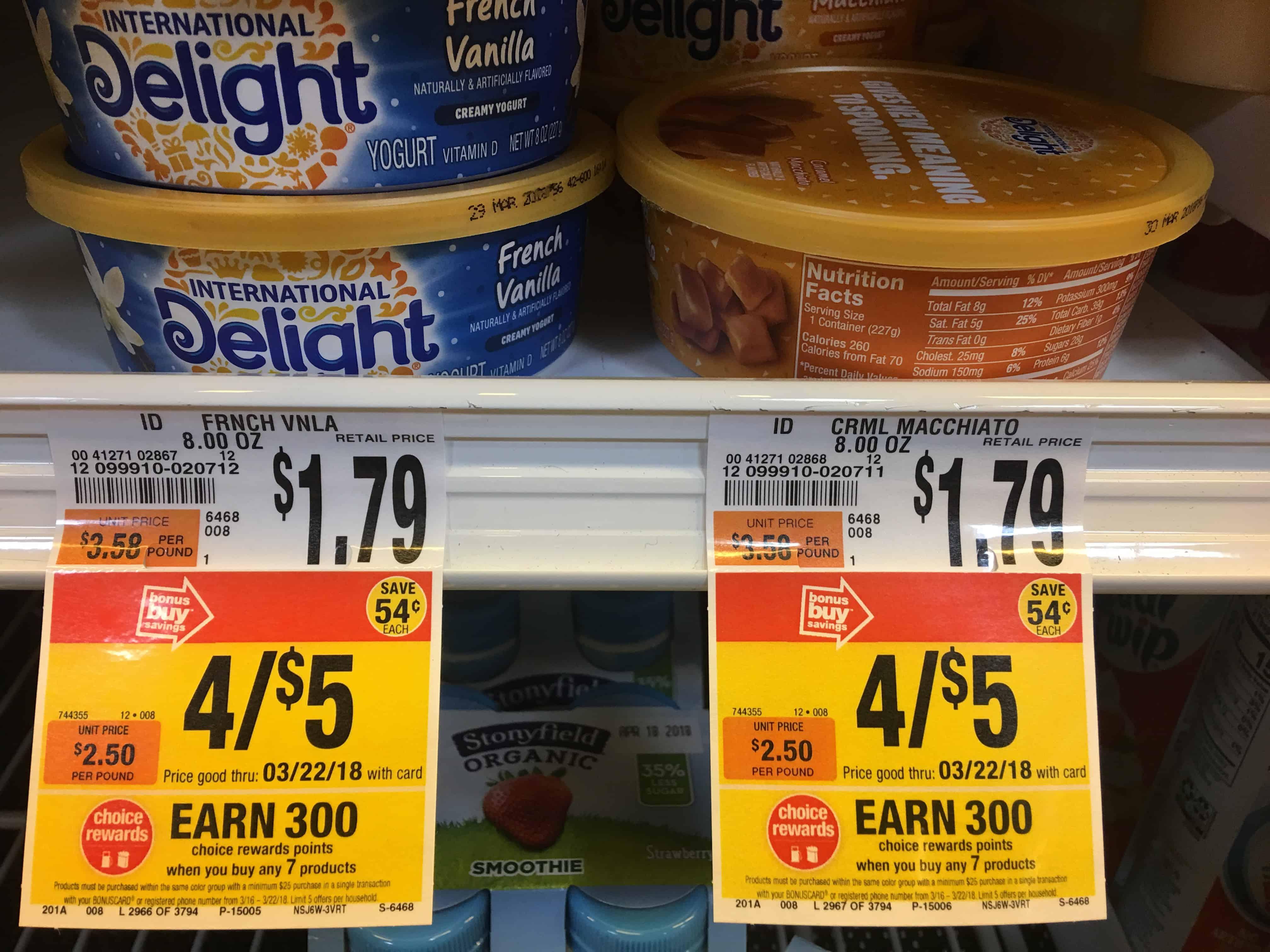 International Delight Yogurts