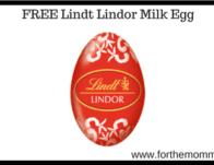 FREE Lindt Lindor Milk Egg