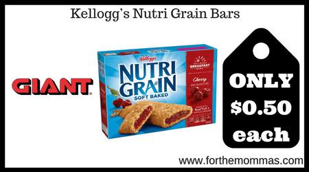 Kellogg's Nutri Grain Bars