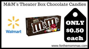 M&M's Theater Box Chocolate Candies