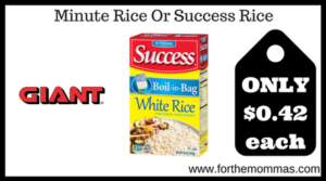 Minute Rice Or Success Rice