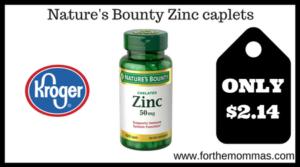 Nature's Bounty Zinc caplets 100ct