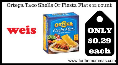 Ortega Taco Shells Or Fiesta Flats 12 count