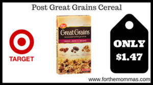 Post Great Grains Cereal