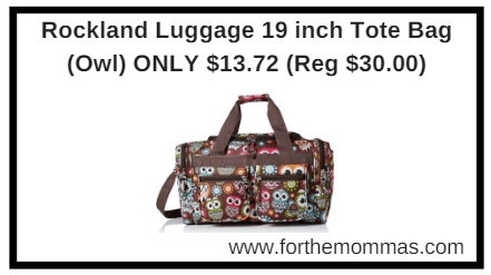 091222d77a67 Rockland Luggage 19 inch Tote Bag (Owl) ONLY $13.72 (Reg $30.00) - FTM