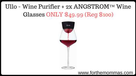 Ullo Wine Purifier Reviews >> Ullo - Wine Purifier + 2x ANGSTROM™ Wine Glasses ONLY $49.99 Shipped (Reg $100) - FTM