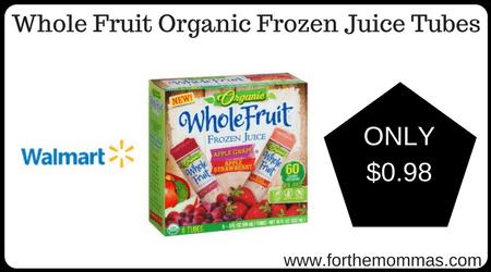 Whole Fruit Organic Frozen Juice Tubes