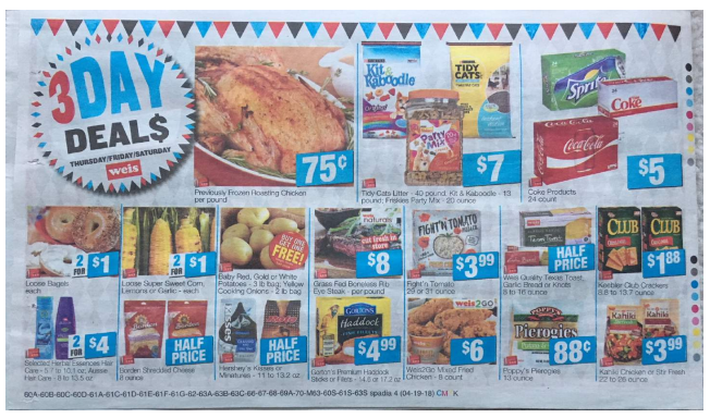 Weis 3-Day Sale: 04/19/18 -04/21/18 | Deals On Hershey's Kisses, Keebler Club Crackers and More