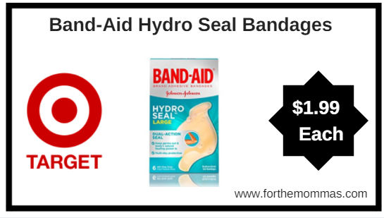 Target: Band-Aid Hydro Seal Bandages Only $1.99 Each {Reg $3.99}