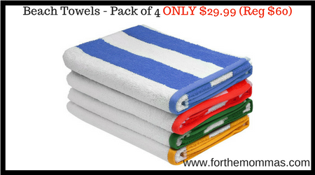 Beach Towels Pack Of 4 Only 29 99 Reg 60