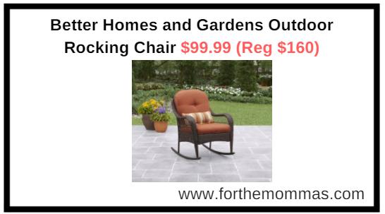 Walmart Com Better Homes And Gardens Outdoor Rocking Chair 99 99