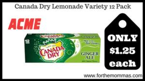 Canada Dry Lemonade Variety 12 Pack