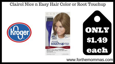 Clairol Nice n Easy Hair Color or Root Touchup