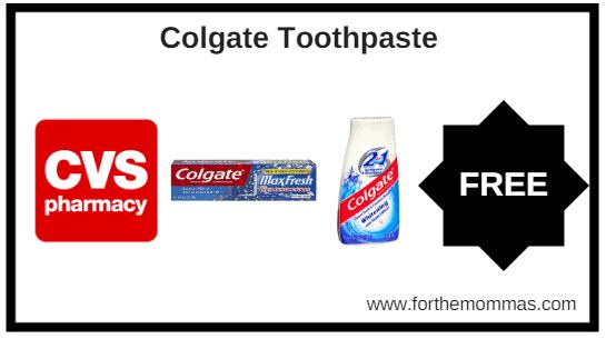 CVS: Free Colgate Toothpaste Starting 2/24