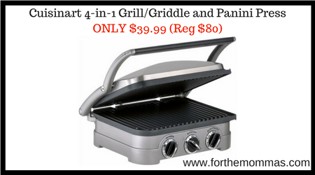 Cuisinart 4 In 1 Grill Griddle And Panini Press Only 39