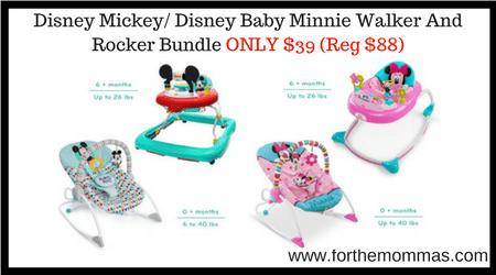 Disney Mickey And Disney Baby Minnie Walker And Rocker
