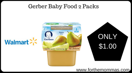 Gerber Baby Food Coupons Walmart