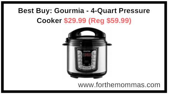 Best Buy: Gourmia - 4-Quart Pressure Cooker $29.99 (Reg $59.99)