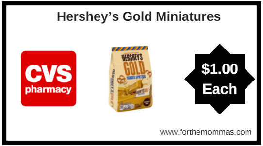 CVS: Hershey's Gold Miniatures ONLY $1 each Starting 4/29