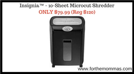 Insignia™ – 10-Sheet Microcut Shredder ONLY $79.99 Shipped (Reg $120)