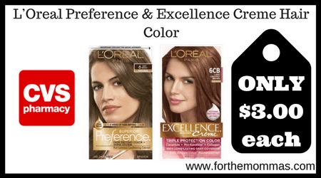 CVS: L'Oréal Hair Color ONLY $3 Each Starting 1/20