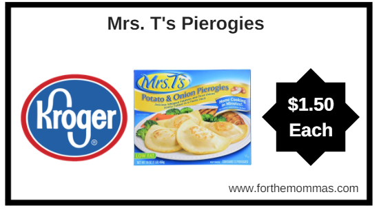 Kroger: Mrs. T's Pierogies ONLY $1.50 (Reg $3.19)