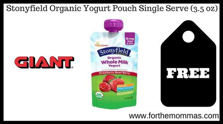 Stonyfield Organic Yogurt Pouch Single Serve