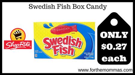 Shoprite swedish fish box candy only each rebate for Swedish fish box