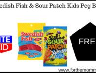 Swedish Fish & Sour Patch Kids Peg Bags