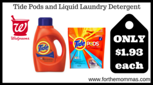 Tide Pods and Liquid Laundry Detergent