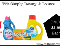 Tide Simply, Downy, & Bounce