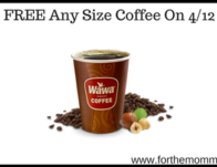 FREE Any Size Coffee On 4/12