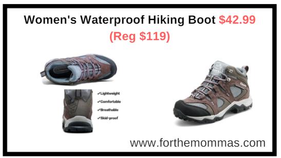 Women's Waterproof Hiking Boot $42.99 (Reg $119) Shipped