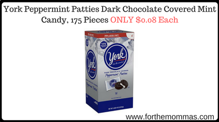 York Peppermint Patties Dark Chocolate Covered Mint Candy ...