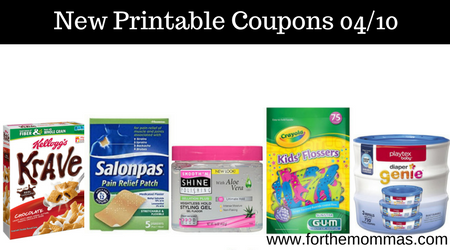 picture about Gum Coupons Printable named Printable Coupon codes Roundup 04/10: Preserve Upon Kelloggs, Salonpas