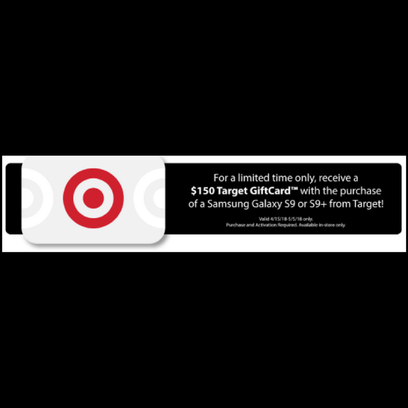 FREE $150 Target Giftcard with Samsung Galaxy S9 or S9+ Purchase