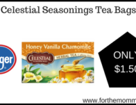 Kroger: Celestial Seasonings Tea Bags ONLY $1.50 {Reg $2.49}