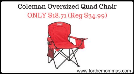 Amazon Com Coleman Oversized Quad Chair Only 18 71 Reg