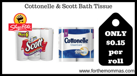 Cottonelle & Scott Bath Tissue